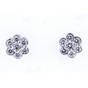 Floral Inspired Diamond Earrings