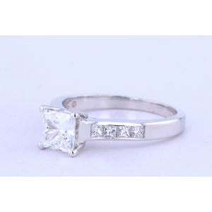 Jeff Cooper Channel-Set Engagement Ring  R2974