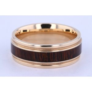 Lashbrook 8mm Hardwood and Gold Ring