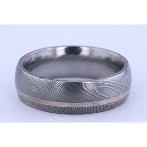 Lashbrook 7mm Damascus Steel Ring