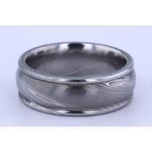 Lashbrook 8mm Damascus Steel Ring