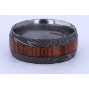 Lashbrook 9mm Damascus Steel Hardwood Ring