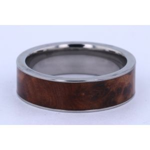 Lashbrook 7mm Titanium and Hardwood Ring