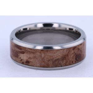 Lashbrook 8mm Titanium and Hardwood Ring