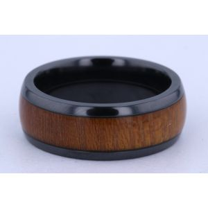 Lashbrook 8mm Zirconium and Hardwood Ring