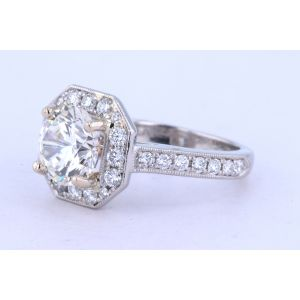 Jeff Cooper Halo Engagement Ring  18-RP1632