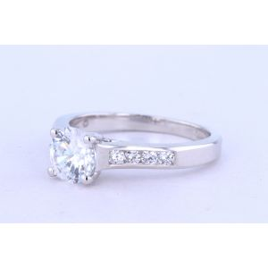 Jeff Cooper Channel-Set Diamond Engagement Ring  R-2976