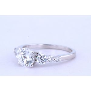 Jeff Cooper Halo Diamond Engagement Ring  R-3096