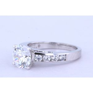 Jeff Cooper Channel-Set Engagement Ring  18-R3108