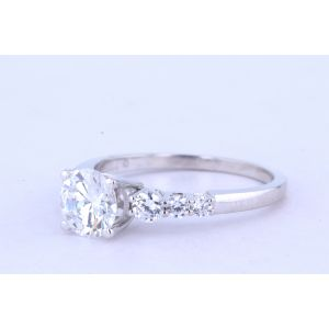 Jeff Cooper Halo Diamond Engagement Ring  R-3110