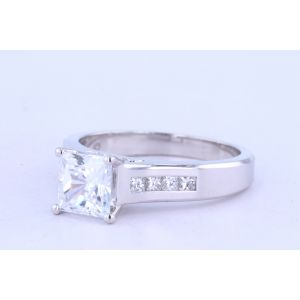 Jeff Cooper Channel-Set Engagement Ring  18-R3148