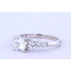 Jeff Cooper Pave Diamond Engagement Ring  R-3180
