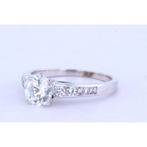 Jeff Cooper Channel-Set Diamond Engagement Ring  R-3280