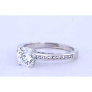 Jeff Cooper Channel-Set Diamond Engagement Ring  R-3308
