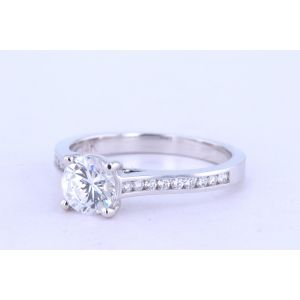 Jeff Cooper Channel-Set Engagement Ring  18-R3322