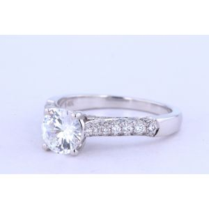 Jeff Cooper Pave Engagement Ring  18-RP1500-A