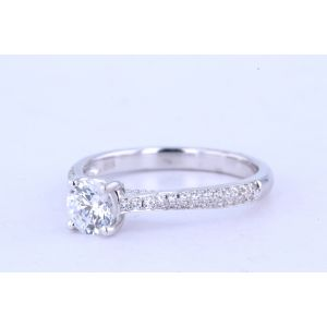 Jeff Cooper Pave Diamond Engagement Ring  RP-1504RD5.2