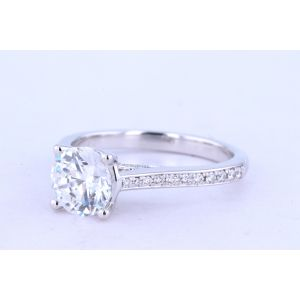 Jeff Cooper Pave Diamond Engagement Ring  RP-1504RD6.5-8.0