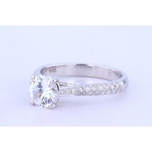 Jeff Cooper Pave Diamond Engagement Ring  RP-1505RD