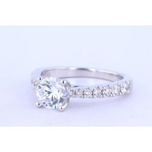 Jeff Cooper Pave Engagement Ring  18-RP1514