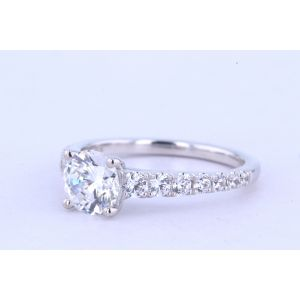 Jeff Cooper Pave Diamond Engagement Ring  RP-1515RD