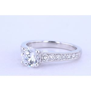 Jeff Cooper Pave Engagement Ring  18-RP1517