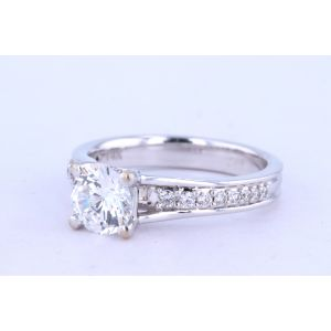 Jeff Cooper Pave Engagement Ring  18-RP1604