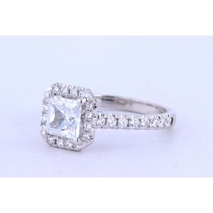 Jeff Cooper Halo Engagement Ring  18-RP1608/OCT