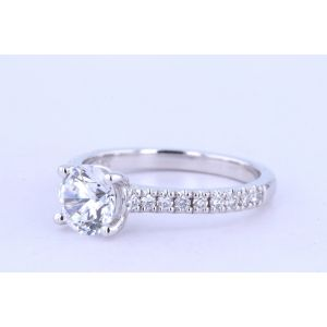 Jeff Cooper Pave Engagement Ring  18-RP1617