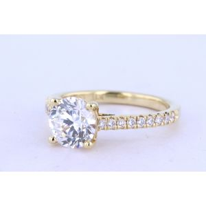 Jeff Cooper Pave Engagement Ring  18-RP1621