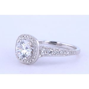 Jeff Cooper Halo Engagement Ring  18-RP1636