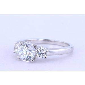 Jeff Cooper Three-Stone Engagement Ring  18-RP2806