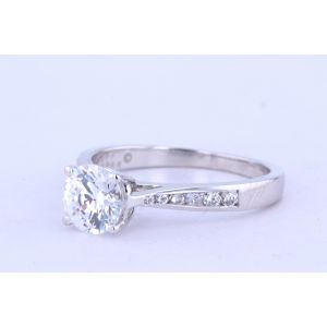 Jeff Cooper Channel-Set Diamond Engagement Ring  RP-3266