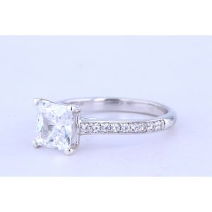 Jeff Cooper Pave Diamond Engagement Ring  RP-3324