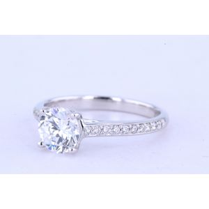 Jeff Cooper Pave Engagement Ring  18-RP3326