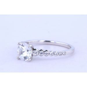 Jeff Cooper Side-Stone Diamond Engagement Ring  RP-3370
