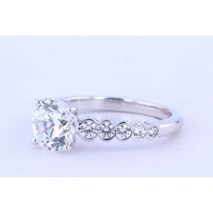 Jeff Cooper Side-Stone Diamond Engagement Ring  RP-3371