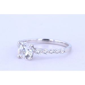 Jeff Cooper Side-Stone Diamond Engagement Ring  RP-3374