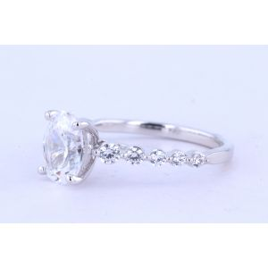 Jeff Cooper Side-Stone Diamond Engagement Ring  RP-3375/OV