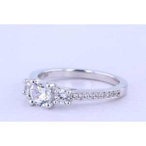 Jeff Cooper Pave Diamond Engagement Ring  RP-1641