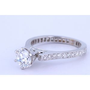 Channel-Set Diamond Engagement Ring  192-10104