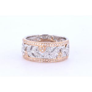 Pave Diamond Two-Tone Band R4383