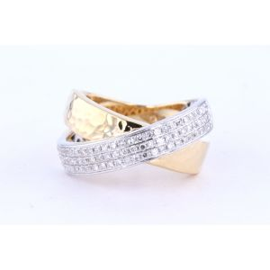 Miro Diamond Cross Over Ring  242-36808