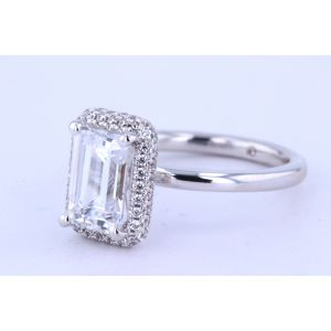 Gabriel New York Halo Diamond Engagement Ring  ER12910E6