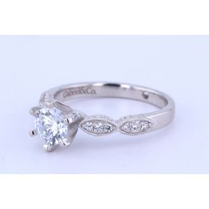 Gabriel New York Vintage Diamond Engagement Ring  ER3848