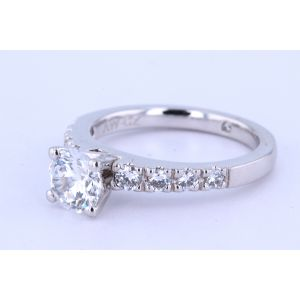 Gabriel New York Pave Diamond Engagement Ring  R3950