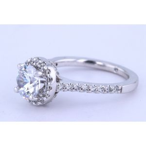 Gabriel New York Halo Diamond Engagement Ring  ER5832