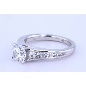Gabriel New York Channel-Set Diamond Engagement Ring  ER6664