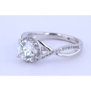 Gabriel New York Pave Diamond Engagement Ring  ER7804