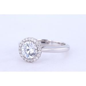 Danhov Halo Engagement Ring 331-CL102